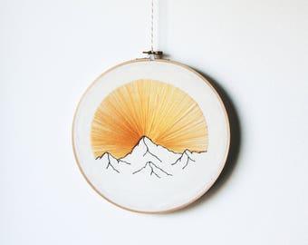 Mountain sunrise embroidery