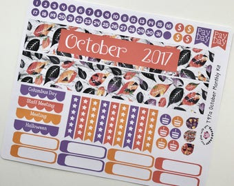 T97    October Leaves Monthly Kit