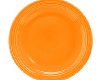 Tangerine Fiestaware Dinner plate.