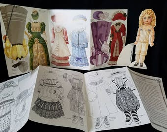 Vintage Bru Jne Antique Paper Doll Reproduction French Doll