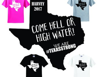Hell or High Water Hurricane Harvey SVG File