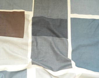 "Christopher Farr Cloth ""Untitled"" Indigo By Kate Blee  Designer Linen Fabric / BTY / Free Ship!"