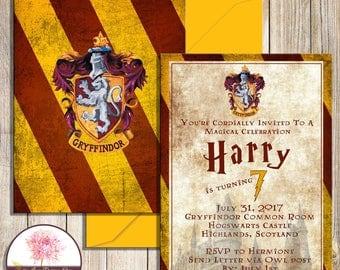 Harry Potter Gryffindor House Invitation