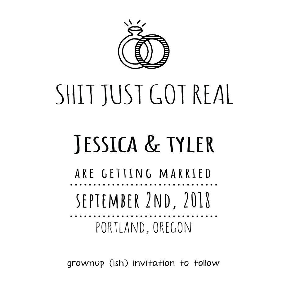 Simple Wedding Invite - Invitation Template - Funny Wedding ...