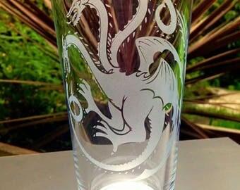 Game of Thrones House Targaryen Pint Glass - Engraved - New