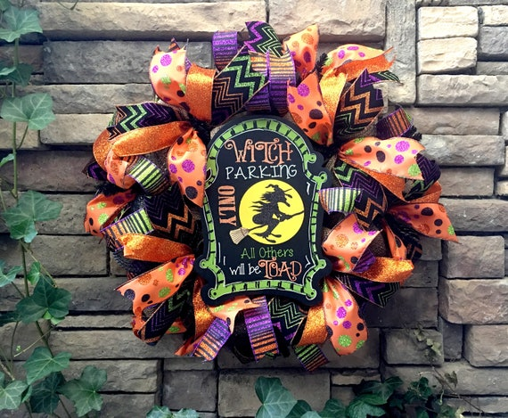 Halloween Wreaths, Burlap Halloween Wreath, Witch Wreath, Burlap Witch Wreath, Halloween Decoration, Halloween Decor, Fall Wreath, Halloween