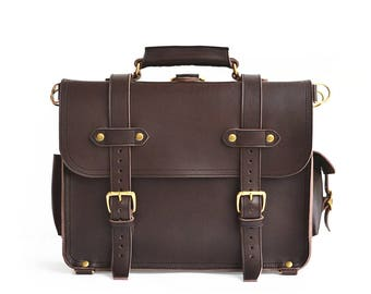 Classic Handmade Mens Leather Briefcase Men Leather Backpack Mens Leather Messenger Bag Men Mens Leather Satchel Men Leather Macbook Bag