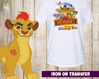 DIGITAL FILE - The Lion Guard Mommy of the Birthday boy, Birthday Iron On Transfer - Birthday Shirt Printable,instant download