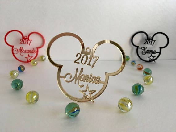 Personalised Christmas Name Bauble Tree decorations Personalized Mickey Mouse Christmas Ornament Disney Christmas Xmas Mickey 2017 Xmas gift