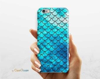 BLUE MERMAID phone case, iPhone 7 6 6s Plus phone case iPhone SE 5 5s phone case Samsung Galaxy S8 Plus S7 Edge S6 S4 S3 mermaid phone case