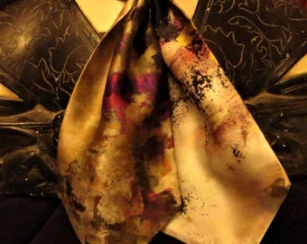 A Regal Gem tie in pure silk from my collection.Exquisitely soft with pearls and amber embellishments.