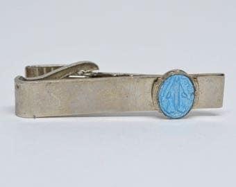silver tone neck tie bar