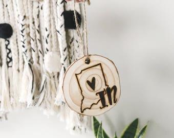 Custom Wood Burned ornaments