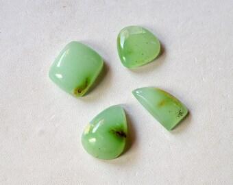 Chrysoprase Gemstone Cabochon Wholesale Lot 49 Cts Natural Beautiful Green  Multi Shape R14280