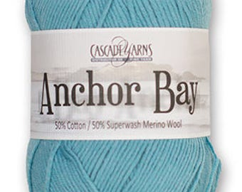 Cascade Anchor Bay 50/50 Cotton & Superwash Merino Yarn - DK Weight