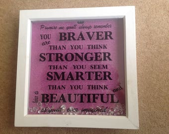 You are braver than you think box frame