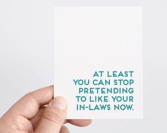 Funny Divorce Card | Breakup Card | Divorcee | Inlaws | Empathy Card | Encouragement Card | Sympathy Card | Friend Breakup | Divorce Party