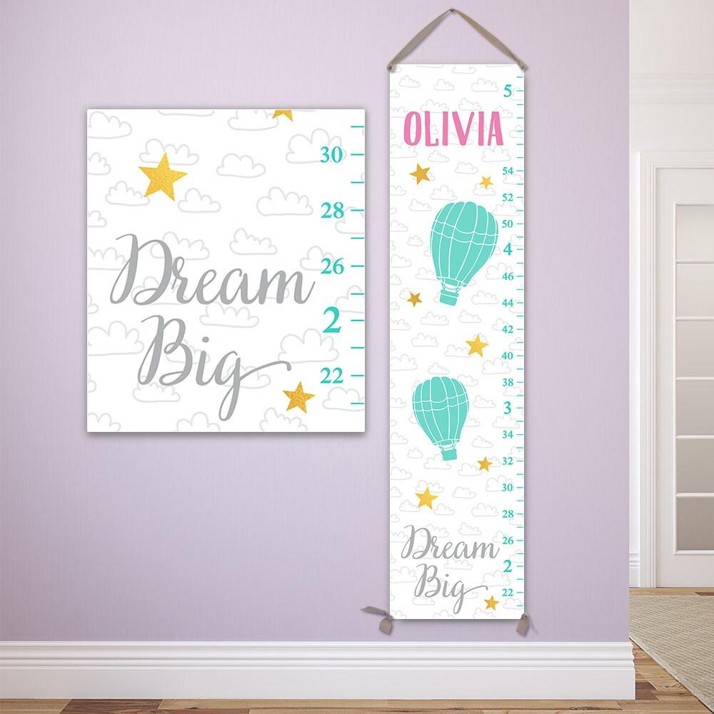 Dream big growth chart personalized on canvas gc8010p jolieprints nvjuhfo Choice Image