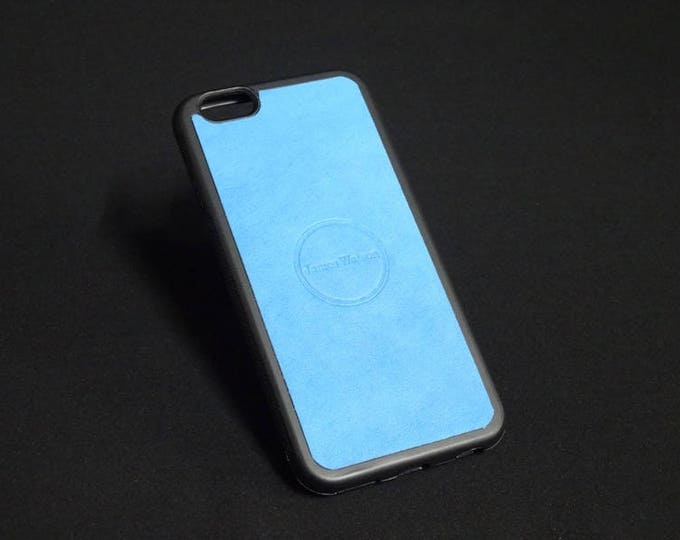 Apple iPhone 6 6S - Jimmy Case in Tiffany Blue - Kangaroo leather - Handmade - James Watson
