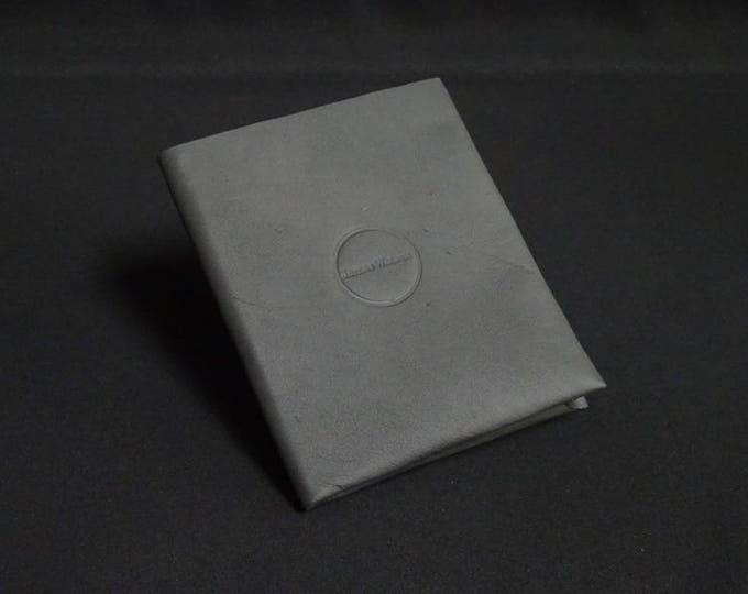 Passport Wallet - Matte Black - Kangaroo leather with RFID Passport and Credit Card chip blocking - Handmade - James Watson