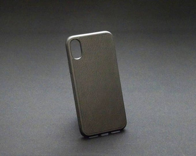 Apple iPhone X 10 - Jimmy Case in Black - Kangaroo leather - Handmade - James Watson