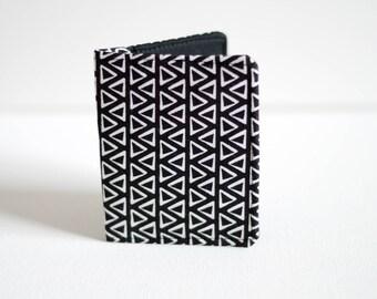 Slim Wallet - Thin Wallet - Black Wallet - Bi-fold Wallet - Mens Wallet - Business Card Holder - Handmade Wallet - minimalist wallet