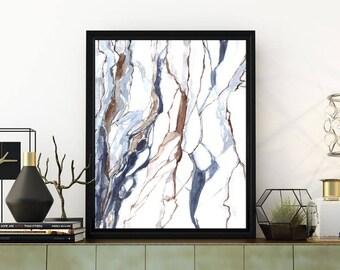 Printable marble wall art, marble print, abstract print, watercolor print, abstract watercolor art, marble painting, watercolor painting