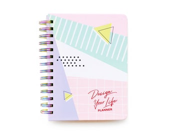 Design Your Life® 2018 Planner - Rainbow Binding, Weekly Planner, Agenda, Journal, Calendar, Unique Planner, Student Planner, Pastel Design