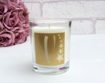 Letter Candle with stars motif