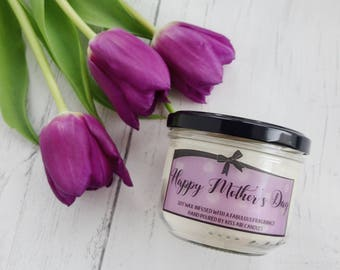 Happy mothers day, Mother's day candle, mother's day gift, mum gift, gift for mum, mothering Sunday, floral candle