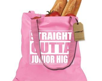 Straight Outta Junior High Shopping Tote Bag