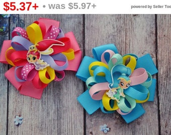 CHRISTMAS SALE Birthday gift for girlfriend Shimmer and Shine party Shimmer and Shine birthday gift for sister Shimmer and Shine hair bow...