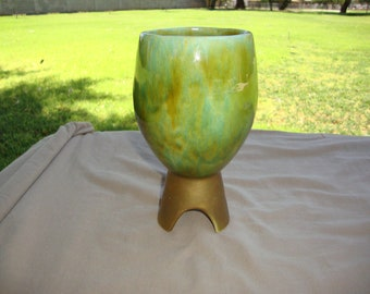 California Pottery USA Footed Goblet Vase