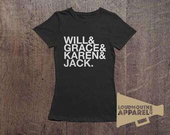 Will & Grace TV Characters 90's TV Show Women's T-Shirt