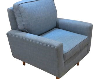 Mid Century Modern Upholstered Club Chair
