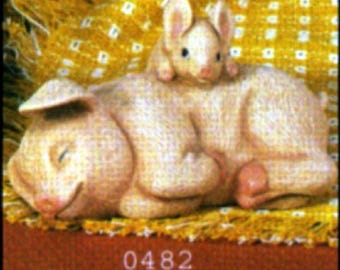 1982 Scioto S482 Sleeping Pig with Piglet Mold S22