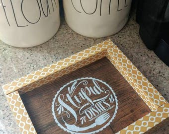 Stupid Dishes-Wooden Sign