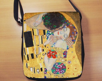 Gustav Klimt The Kiss Small Shoulder Bag, Art Nouveau, Small Crossbody Bag, Small CrossBody Purse, Cross Body Bag, Sling Bag, Small Purse