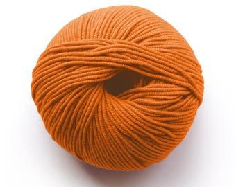 Millamia Naturally Soft Merino + Patterns 6.50 +.95ea to Ship - 136yds - Pumpkin 183 Orange - Soft, Squishy, Very Even Stitch Definition.