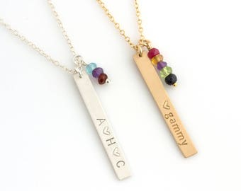 Personalized Mothers Day Gift for Grandmother/Mothers Birthstone Necklace/Birthstone Family Tree Necklace/Mother's Day Necklace/Gift for Mom