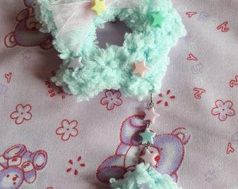 Fluffy Star (light blue)