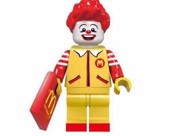 Ronald McDonald custom minifigure 100% McDonalds! Lego Compatible