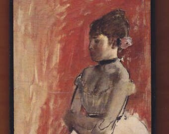 Edgar Degas, Ballet Dancer with Arms Crossed,about 1872.FREE SHIPPING