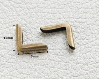 No.1 - Angle corner Protector for book 15x15x2mm bronze