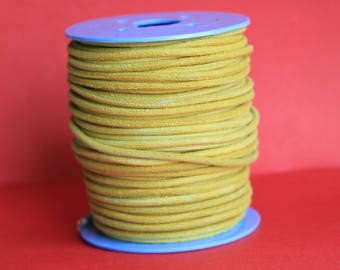 MADE in EUROPE 2 yards of suede cord, 3mm round suede cord (3croama)
