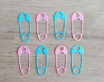 100 Diaper Pin Confetti / Clothes Pin / Die Cuts / for Baby shower / Table Decor