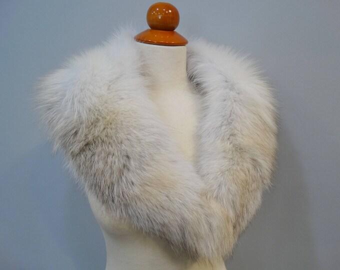Real Fox Fur Beige Collar F695