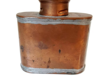 "vintage french advertising copper flask ""SNCF"""
