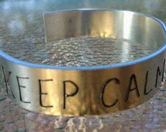 Keep Calm Trust God Artisan Cuff Bangle