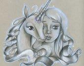 "Original Drawing of ""The Last Unicorn"""
